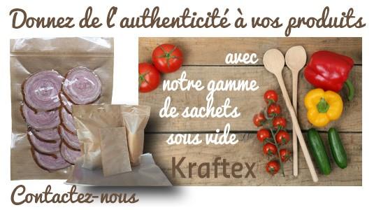 Découvrez notre nouvelle gamme sachet sous vide Kraftex